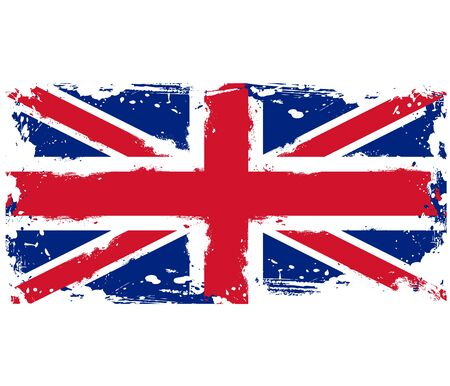 Threadbare flag of Great Britain
