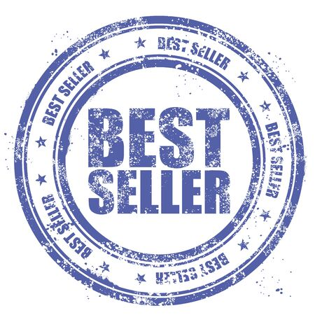 bestseller: Grunge stamp bestseller Illustration