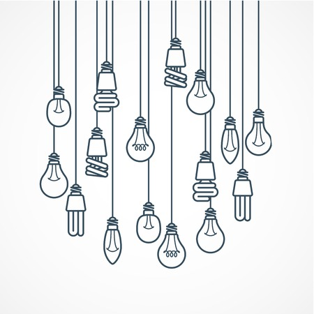 bulb: Light bulb hanging on cords - lamps