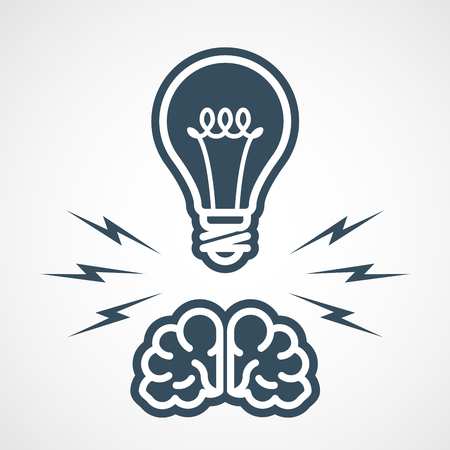 Intellectual property - power of mind and ideas Illustration