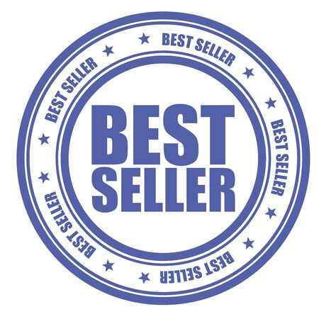 bestseller: Blue stamp with words Bestseller