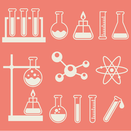 Chemical laboratory equipment - test tubes and flasks