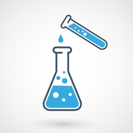 Test tube and flask - chemical laboratory test