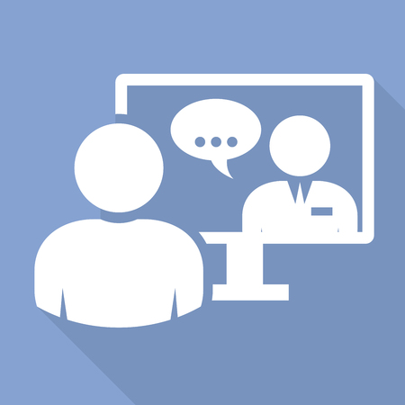 La gente de negocios - llamada de videoconferencia