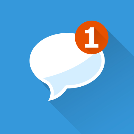 incoming: Incoming message - notification icon, speech bubble