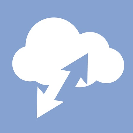 interchange: Cloud computing data synchronization - network interchange icon