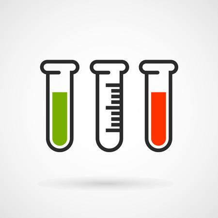 test tube: Measuring test tube icon