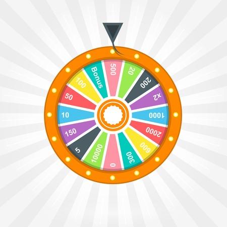 rueda de la fortuna: Cartel con la rueda de la fortuna Vectores