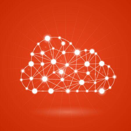 cloud computing: Cloud computing - internet communication network Illustration