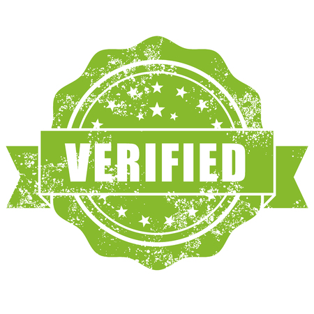 verified: Shabby stamp with inscription Verified Illustration
