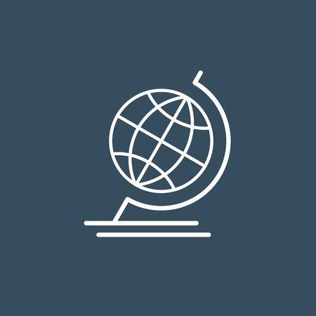wireframe globe: Terrestrial globe wireframe icon
