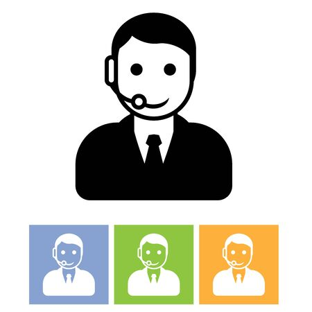 handsfree phones: Customer support service - call center assistant icon