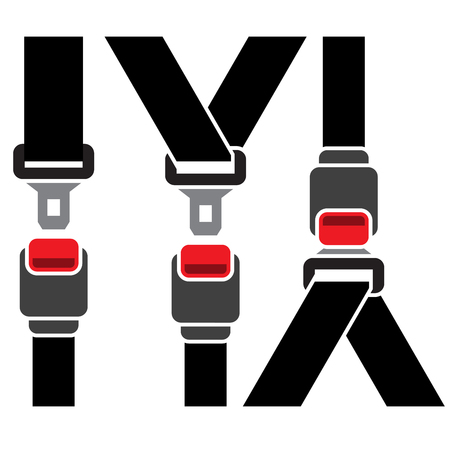 Safety seatbelt icon - diagonal and straight line