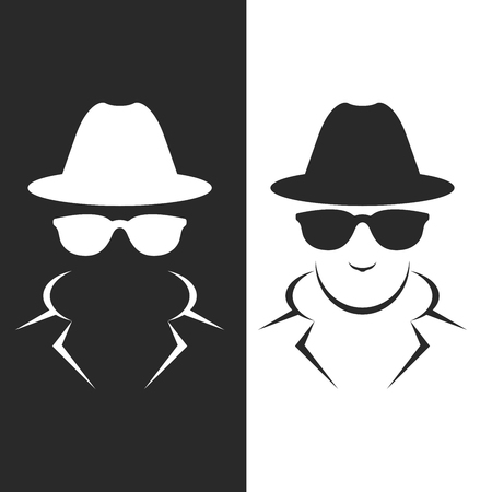 undercover agent: Undercover agent or spy - private detective icon