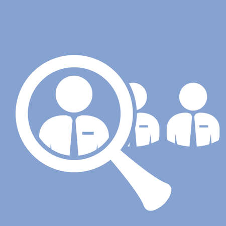 competent: Staff search icon - finding a skilled employee