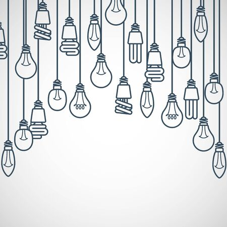 tubing: Light bulbs hanging on cords - semicircle lamp frame
