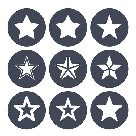 ions: Simple star ions for rating bar Illustration