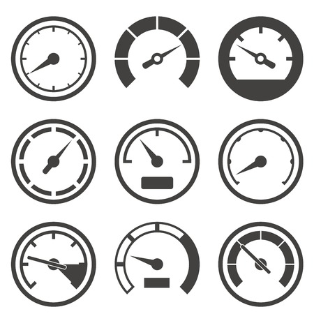 dashboard: Set of speed meters and dashboard device scales