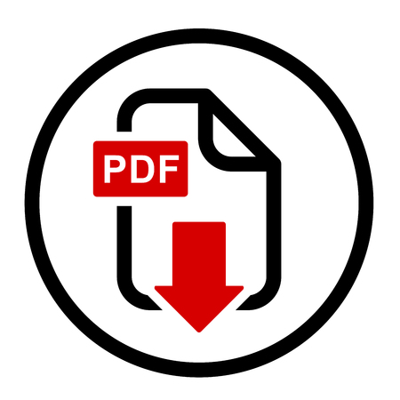 PDF file download simple icon Иллюстрация