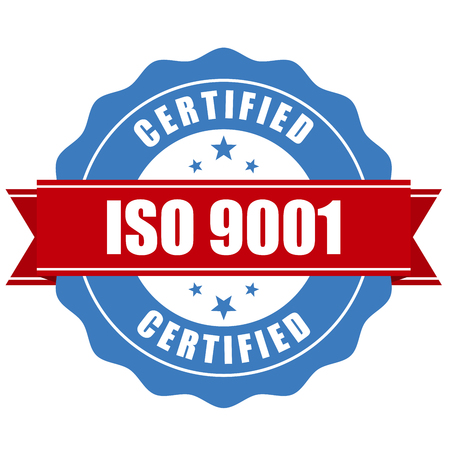 verified stamp: ISO 9001 certified stamp - quality standard seal