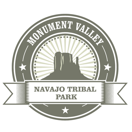monument valley: Monument Valley stamp - Navajo Tribal Park embelm