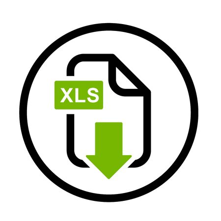 xls: XLS file download simple icon