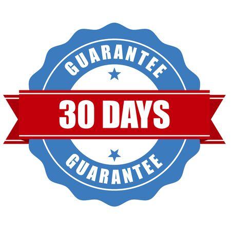 days: 30 days guarantee stamp - warranty sign