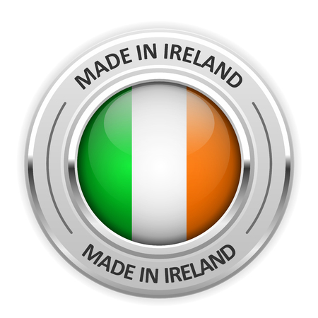 silver medal: Silver medal Made in Ireland with flag