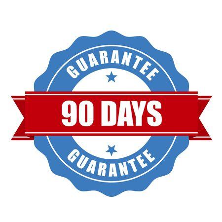 days: 90 days guarantee stamp - warranty sign Illustration