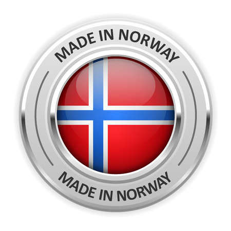silver medal: Silver medal Made in Norway with flag
