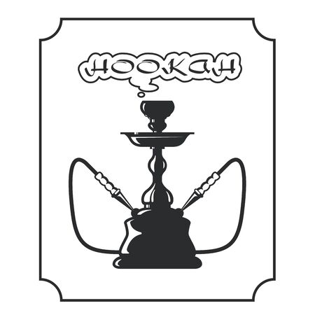 shisha: Hookah lounge label - shisha emblem