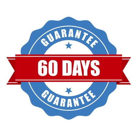 60 days guarantee stamp - warranty sign 向量圖像