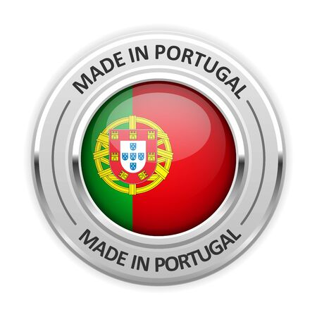 silver medal: Silver medal Made in Portugal with flag