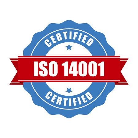 certified stamp: ISO 14001 certified stamp - quality standard seal