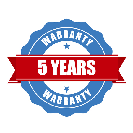 verified stamp: Five years warranty seal - round stamp