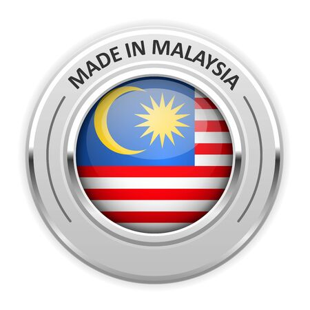 silver medal: Silver medal Made in Malaysia with flag