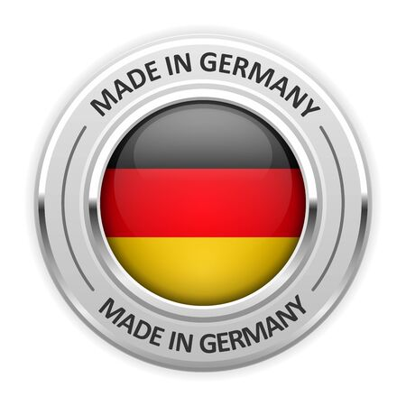 silver medal: Silver medal Made in Germany with flag