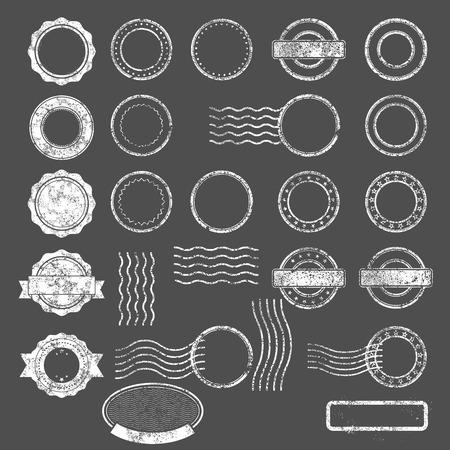 threadbare: Set of postal stamps blank templates