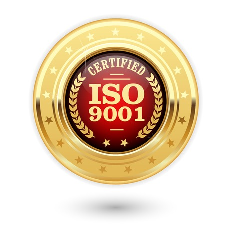 ISO 9001 certified medal - quality management system insignia