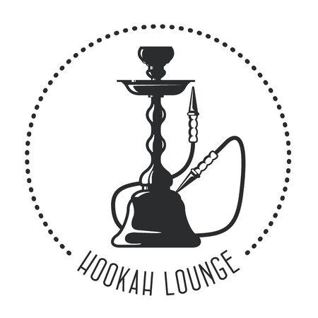 shisha: Hookah lounge emblem - shisha bar
