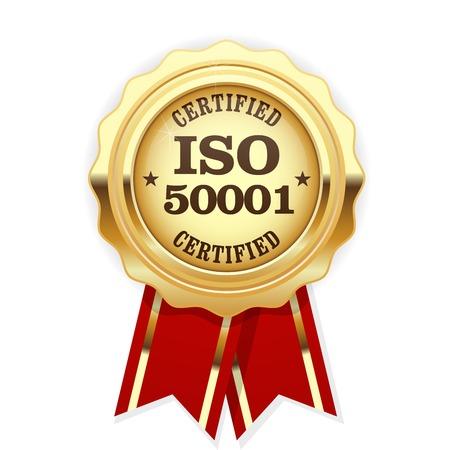 ISO 50001 rosette certifié norme - systèmes de gestion de l'énergie