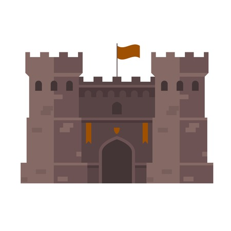 fastness: Medieval stronghold - old fortress towers Illustration