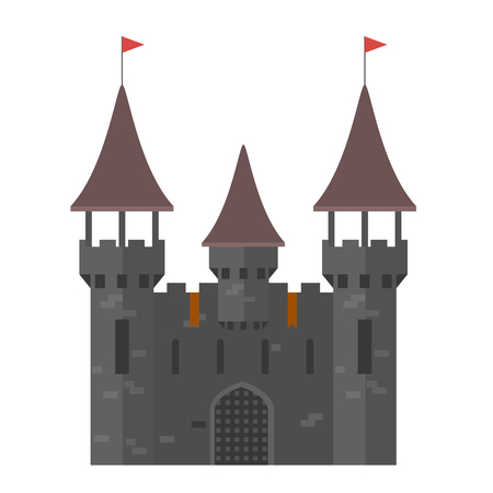 fastness: Medieval castle with towers - walled town