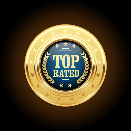 rated: Top rated golden insignia - appreciated medal