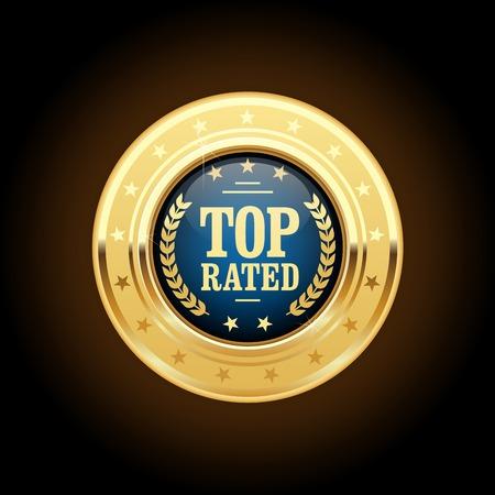 appreciated: Top rated golden insignia - appreciated medal