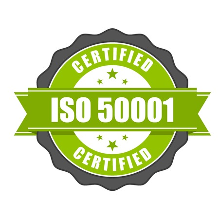 ISO 50001 standard certificate badge - Energy management