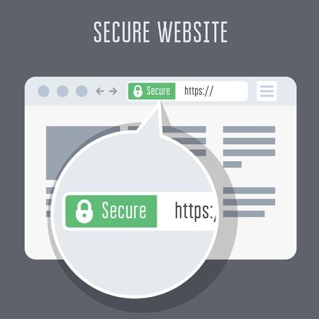 Website with ssl certificate - green address bar in browser window