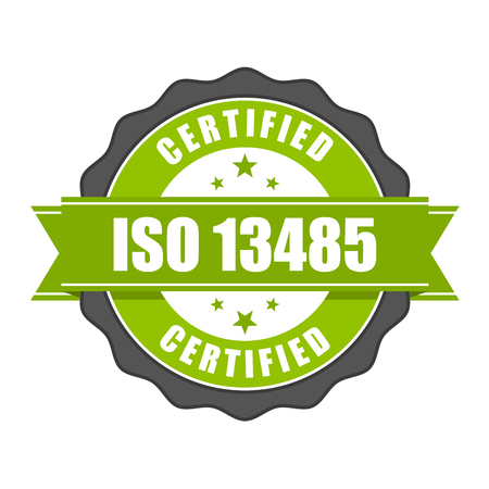 ISO 13485 standard certificate badge - medical devices