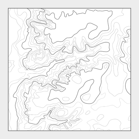 Topographic contour map background - topo heightmap