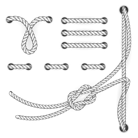 attested: Attested document rope stitchs and loops - file filing suturing